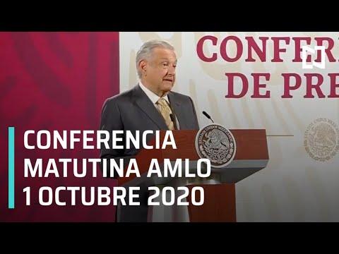 Conferencia matutina AMLO / 1 de octubre 2020