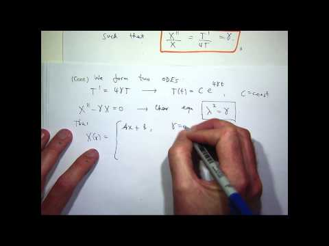 Heat equation: Separation of variables