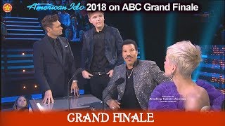 Caleb Lee Hutchinson Does a Lionel Richie Impression/Impersonation American Idol 2018  Grand Finale