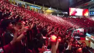 北海道コンサドーレ札幌vs鹿島アントラーズ(2017.10.29)選手入場時 LED演出