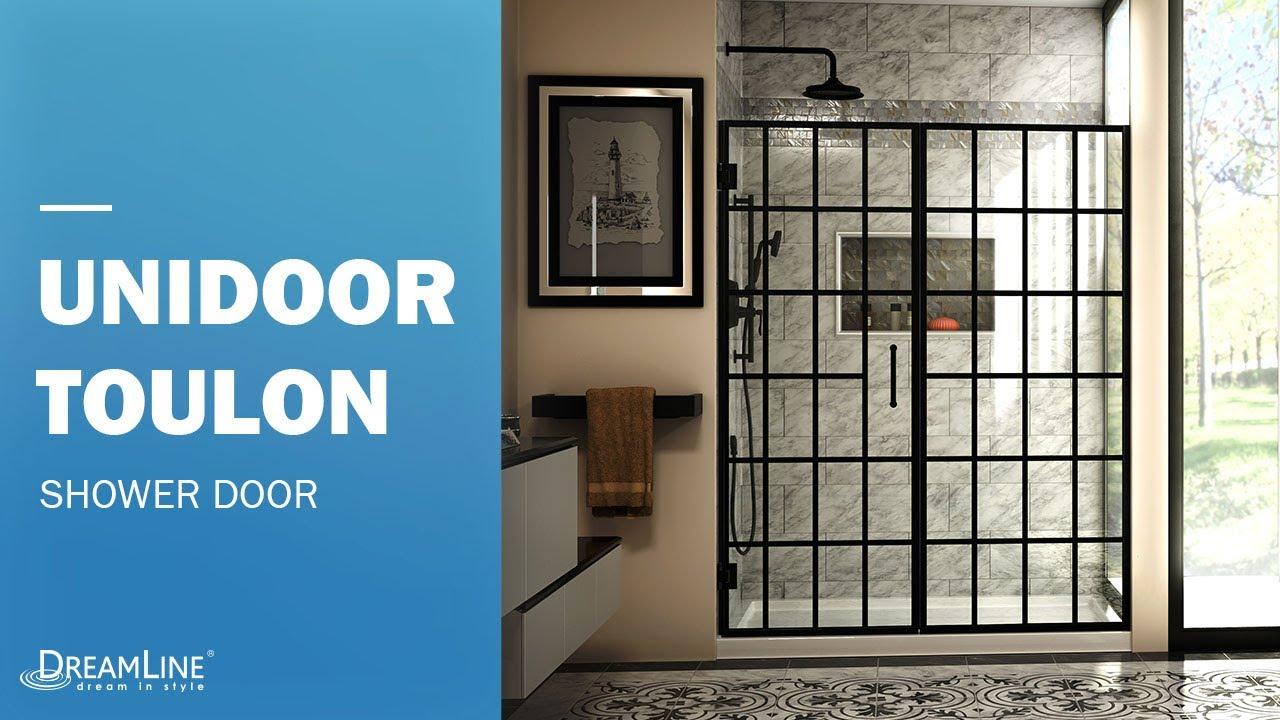 Dreamline Unidoor Toulon Shower Door Hinged Opening