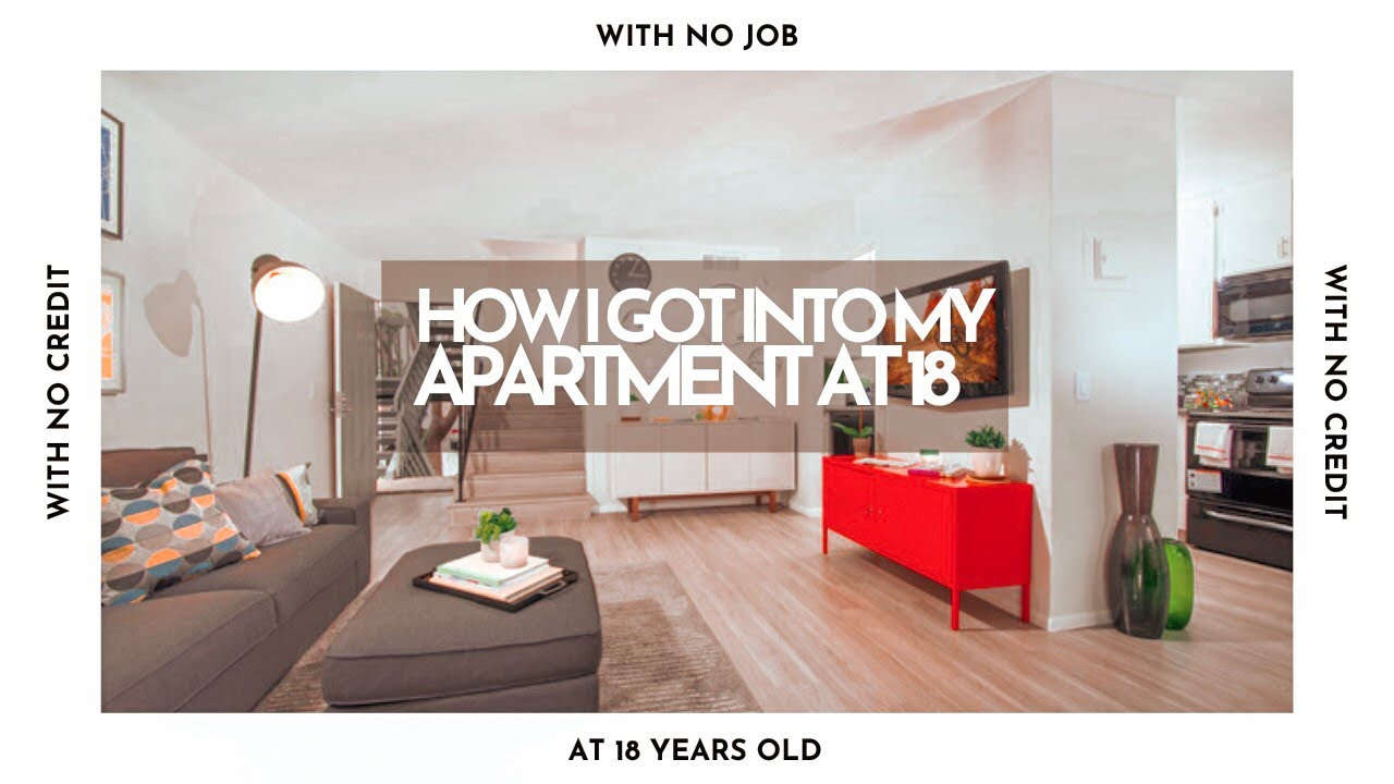 how i got into my first apartment at 18 apartment tour