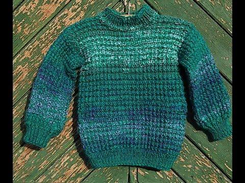 Эксперсс МК  Детский свитер 1-2 года Вязание спицами.