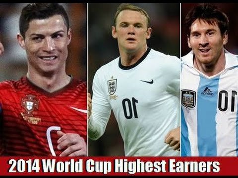 The Ten Highest Paid Footballers in the 2014 World Cup :