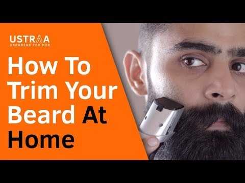 how to trim shape beard at home youtube. Black Bedroom Furniture Sets. Home Design Ideas