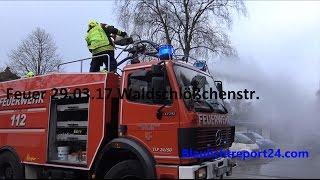 Großfeuer in Heide Autowerkstatt in Vollbrand + LZG Dithm. Einsatzfahrten Feu 3 X