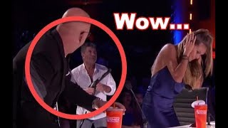 Is Simon Cowell SAVAGE? He  Almost Sprays Heidi and Howie    This Was CLOSE!!! Wait for it!