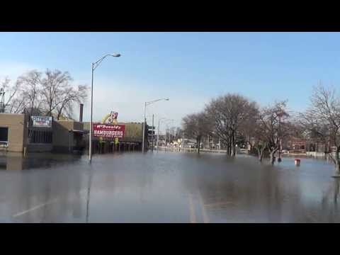 Flooding of Elk Grove and Des Plaines IL