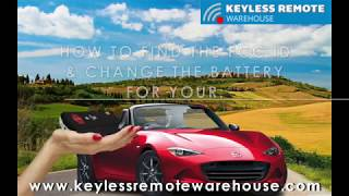 how to find the fcc id change the battery for your 4 btn mazda flip key keyless remote