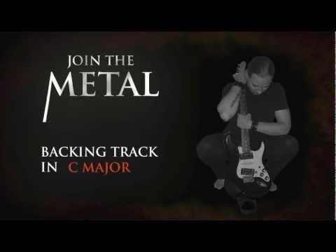 backing track metal in C major