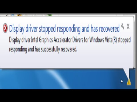 Display driver stopped responding and has recovered error in windows