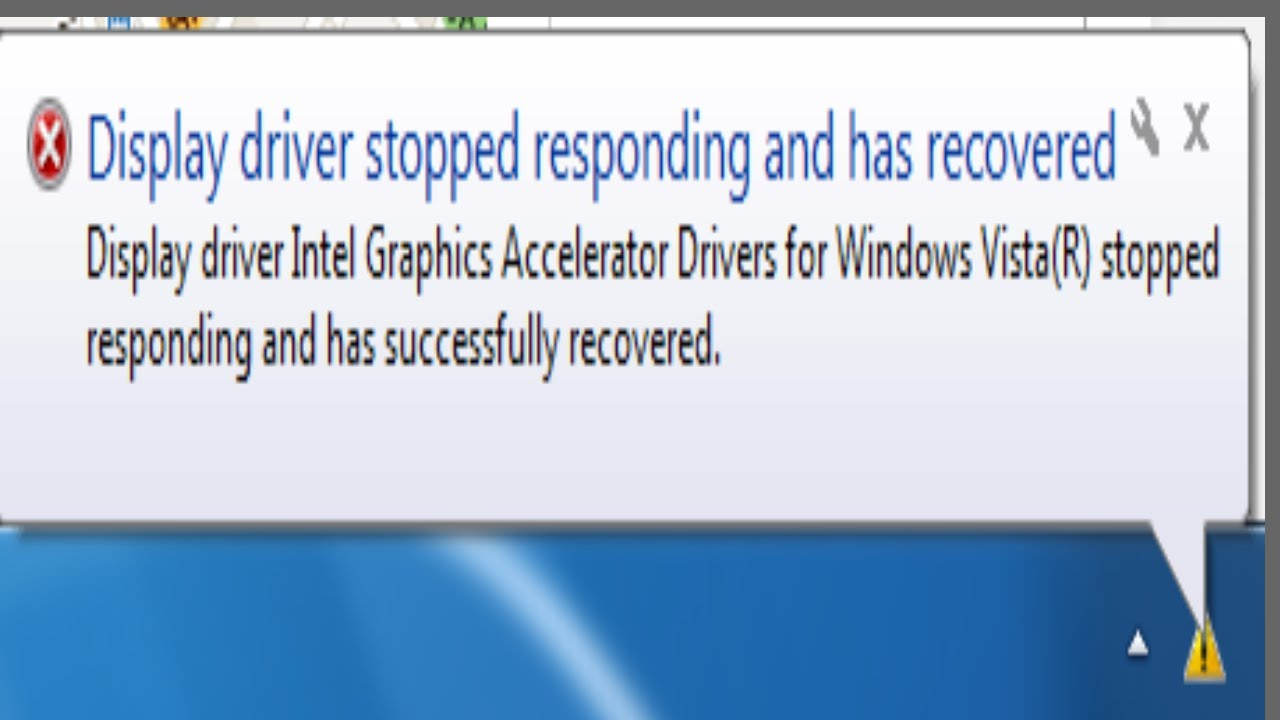 Display driver stopped responding and has recovered in windows 8.1