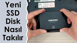 Bilgisayara Yeni SSD Disk Nasıl Takılır Eski Laptop'a SSD Takarak 10 Kat Hızlandırın