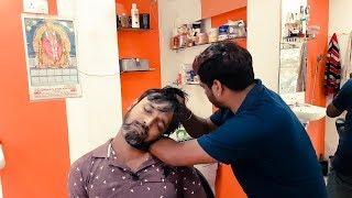 Quard Neck Cracking Head Massage by Barber Kanchan
