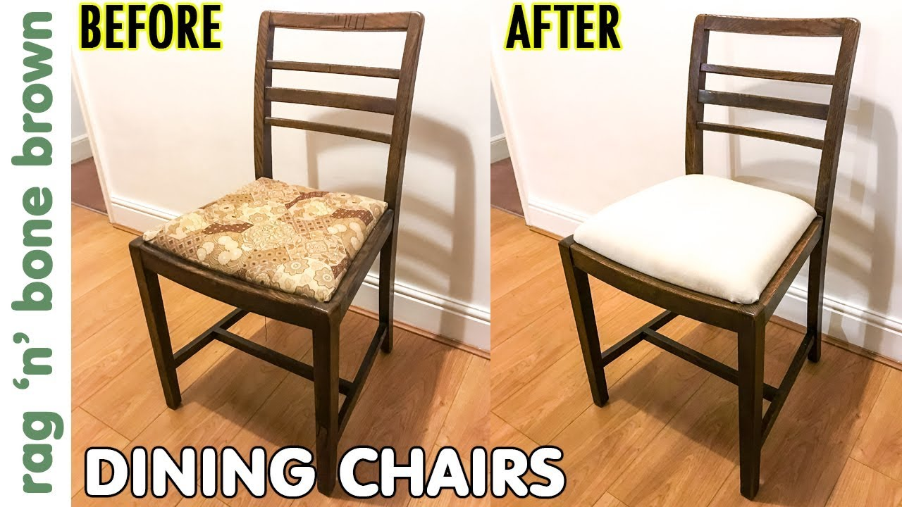 Dining Chairs Makeover Seat Pad, New Padding For Dining Room Chairs