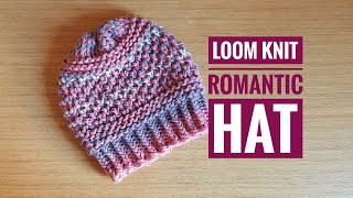 dfc6fd24942 How to Loom Knit the Romantic Hat (DIY tutorial) ...
