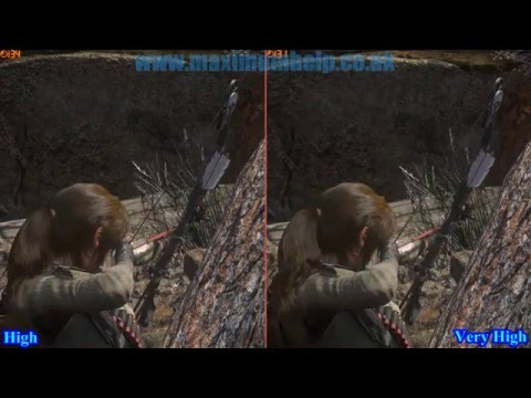 High vs Very High Textures Comparison! Rise of the Tomb Raider PC Footage @ Max Graphics Settings