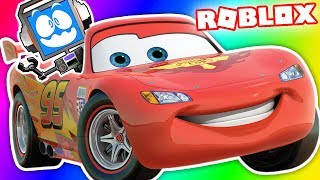 CARS 3 OBBY IN ROBLOX! SAVING LIGHTNING MCQUEEN