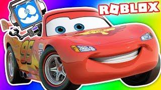 CARS 3 OBBY IN ROBLOX! SAVING LIGHTNING MCQUEEN