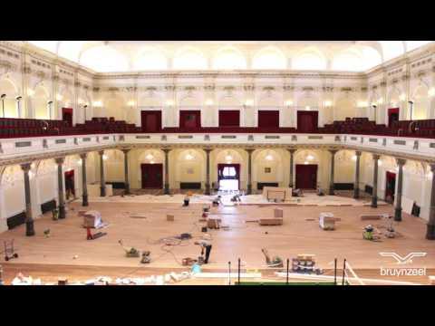 Concertgebouw nieuwe Bruynzeel vloer Timelapse - Bruynzeel vloeren for living