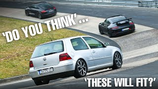 AR1's on my TDI GOLF 4 Daily on the Nürburgring!!
