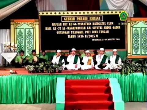 the glinding wesi El Anwar Sarang   Arif Bihubbillah Juara 3 Festival Rebana Guyangan 2015