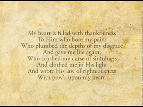 My Heart Is Filled With Thankfulness - Grace Toronto Church