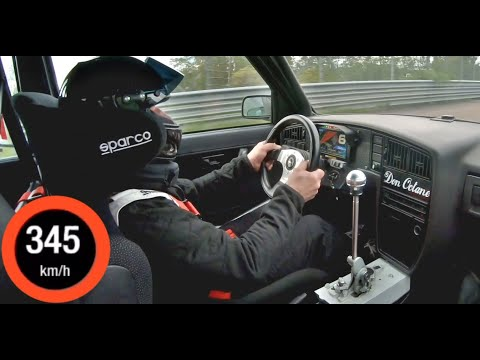1375HP VW Golf 2 Big Turbo 0-345 Acceleration - Extreme Fast Top Speed Run