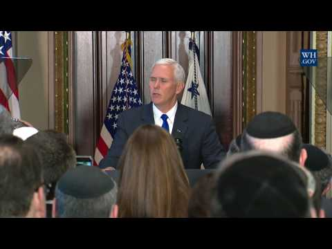 Vice President Pence Participates in an Israel Independence Day Commemoration Event