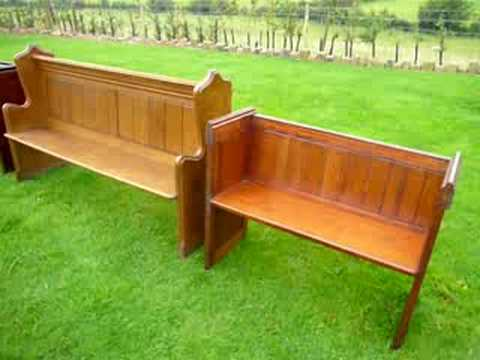 Antique Victorian Oak Pitch Pine Church Pews For Sale Ukaa Youtube
