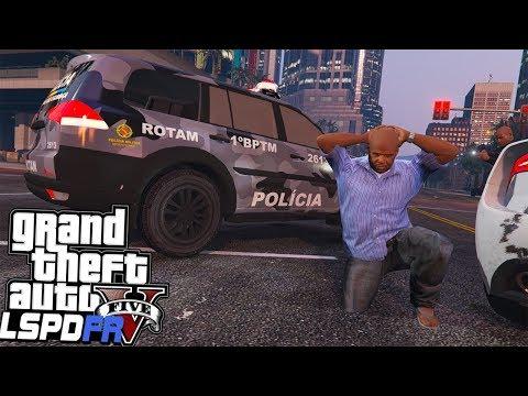 GTA V Rotina Policial - A Casa Caiu ladrão Rotam em ação  PMDF #30