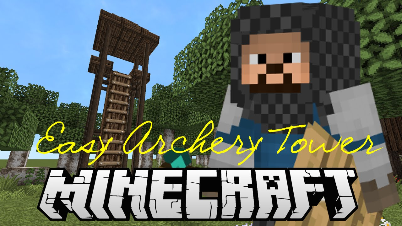 How To Build An Archery Tower Tutorial   Minecraft Super Simple Series!    YouTube