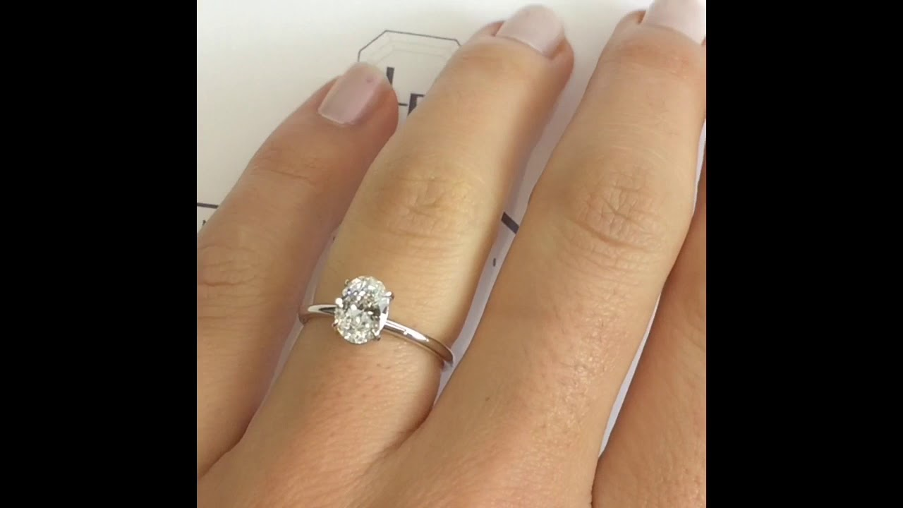 1 Carat Oval Diamond Engagement Ring