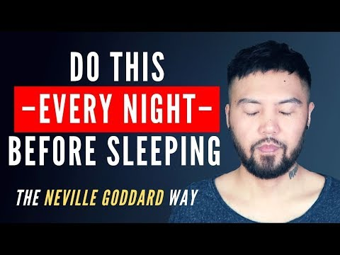 Do This 5 Minutes Before Sleeping To Change Your Life! (Powerful) | Neville Goddard (SATS Method)
