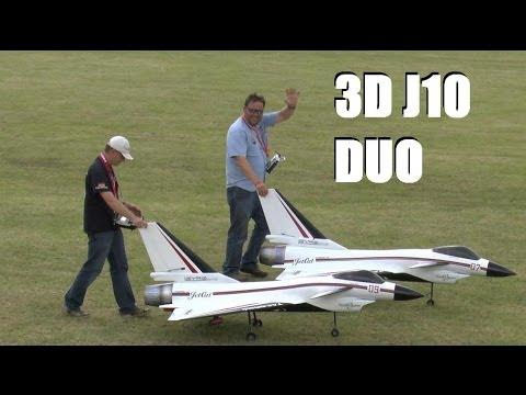 3D CHENGDU J10 JETS DISPLAY TEAM AT WESTON PARK MODEL AIRSHOW 2014