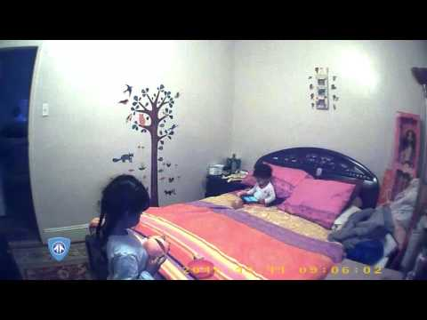 Actual Footage SG Home Battery Operated WiFi Wall Clock Hidden Camera