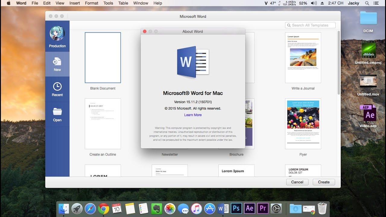 ms ofice for mac