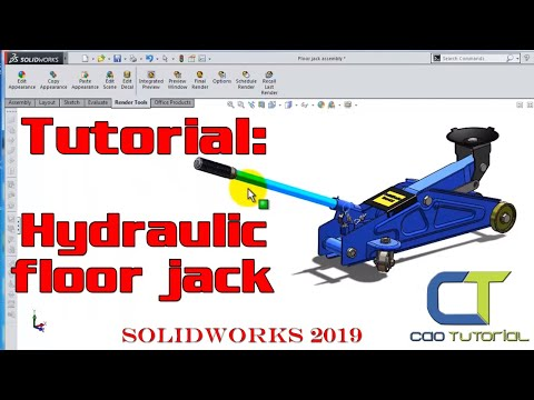 SolidWorks 2019 Tutorial : Hydraulic Floor Jack
