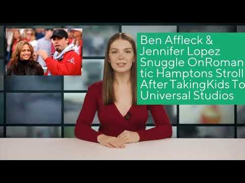 Ben Affleck & Jennifer Lopez Snuggle OnRomantic Hamptons Stroll After TakingKids To Universal Studio