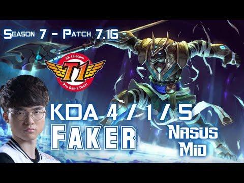 SKT T1 Faker NASUS vs CORKI Mid - Patch 7.16 KR Ranked