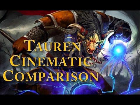 World Of Warcraft - Vanilla and Cataclysm Tauren Starting Zone Cinematic Comparison