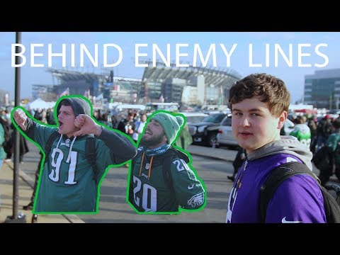 Vikings Fan BEHIND ENEMY LINES at the NFC Championship Tailgate!
