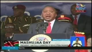 President Uhuru Kenyatta's Mashujaa Day speech