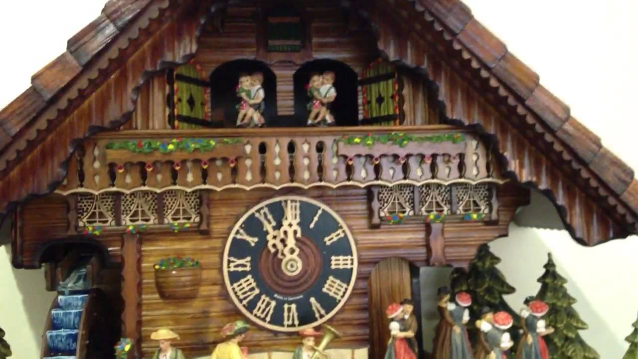 cuckoo clock with water wheel with real flowing water youtube