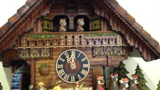 Cuckoo Clock With Water Wheel With Real Flowing Water