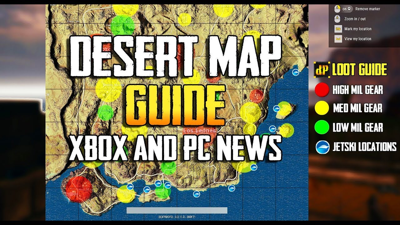 PUBG: DESERT MAP GUIDE! MIRAMAR GUIDE! XBOX & PC NEWS! TRAINING GROUNDS  EPISODE 10