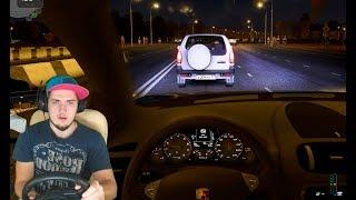НОЧНЫЕ ПОКАТУШКИ НА КАЙЕНЕ - CITY CAR DRIVING с РУЛЕМ