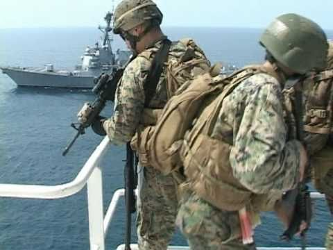 Hands Up! Marines pratice visit, board, search and seizure