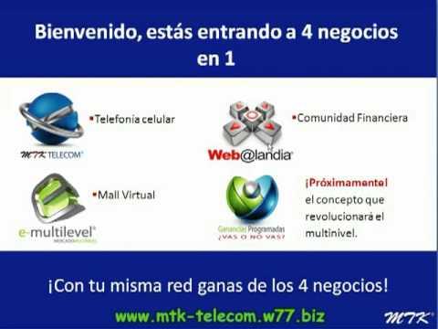 01- MTK Telecom - Web@landia, e-multilevel, Ganancias Programadas