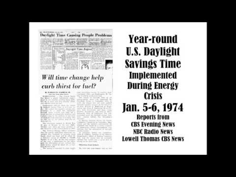 EARLY RETURN OF DAYLIGHT SAVINGS TIME IN U.S. DURING ENERGY CRISIS, JAN. 5, 6 and 7, 1974